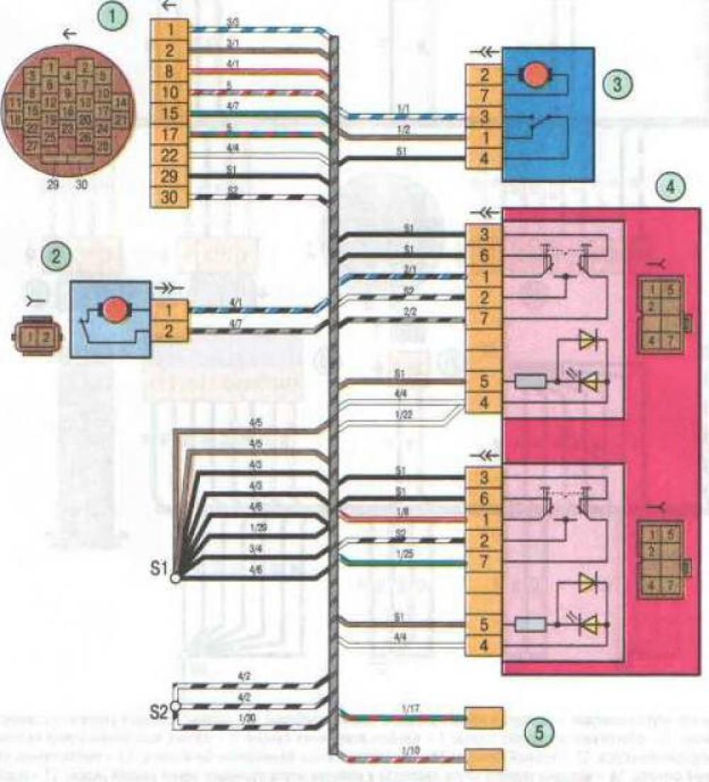 Схема центрального замка гранта норма