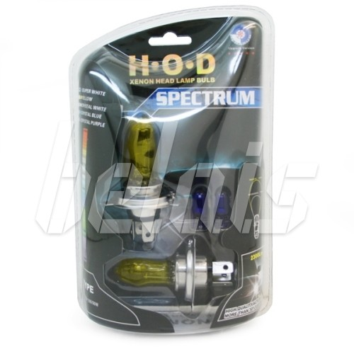 Лампы галогенные «H.O.D» SPECTRUM H1 (55W, SUPER YELLOW, лампочки T10 в комплекте)